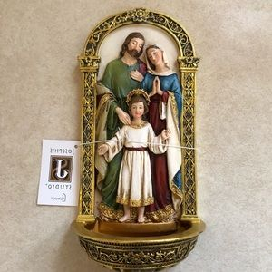 NEW Joseph's Studio Roman Arched Holy Water Font